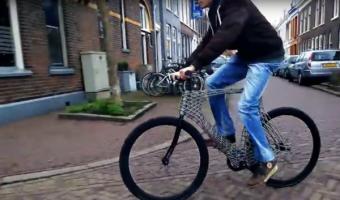 世界初!3Dプリンターで出力した自転車が丈夫で美しい!