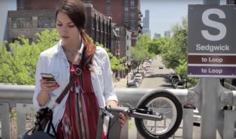 サドルを無くすという選択肢から完成した超シンプルな折畳み自転車