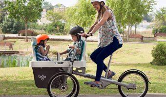 前輪が2つ?チャイルドシート付きで安定性抜群の自転車が登場。