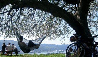 お洒落な休日サイクリングのすすめ。癒しのハンモリングで自然を満喫