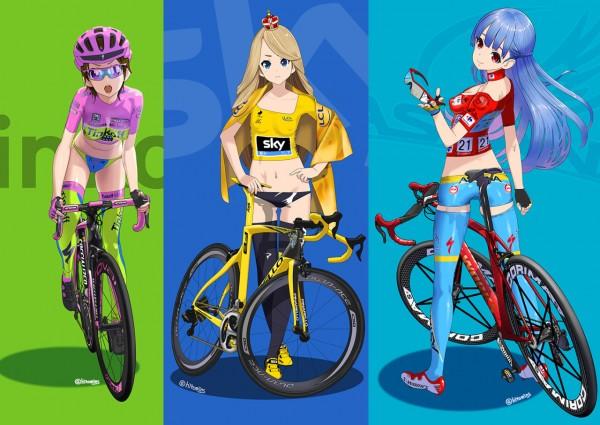 美しすぎるもののみ厳選!自転車と乗る女性に萌える絵を40枚ほど。パート1